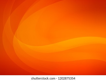 Light Orange vector pattern with bent ribbons. Creative illustration in with gradient. New composition for your brand book.