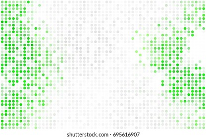 Light Orange vector pattern with colored spheres. Geometric sample of repeating circles on white background in halftone style.