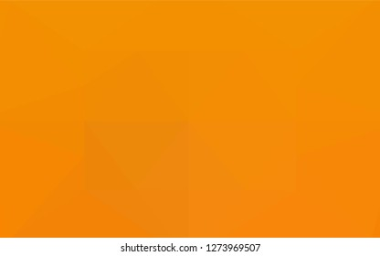 Light Orange vector polygon abstract background. Shining illustration, which consist of triangles. The polygonal design can be used for your web site.