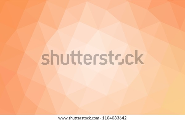 Light Orange vector polygon abstract background. Creative geometric illustration in Origami style with gradient. The polygonal design can be used for your web site.