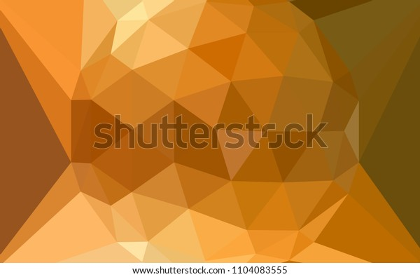 Light Orange vector polygonal background with a diamond. Illustration in Origami style with gradient.  Triangular pattern for your design.