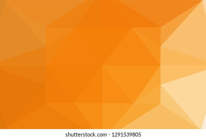 Light Orange vector polygonal template. Colorful illustration in abstract style with gradient. The textured pattern can be used for background.