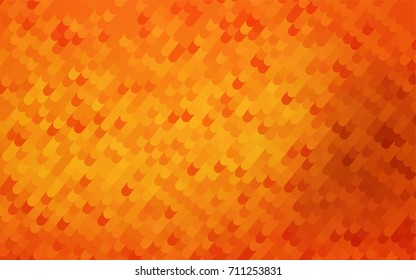 Light Orange vector shining cranked template. Colorful abstract illustration with gradient crooked lines. The elegant pattern can be used as part of a brand book.