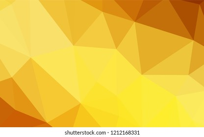 Light Orange vector shining triangular backdrop. Colorful illustration in polygonal style with gradient. A completely new design for your leaflet.