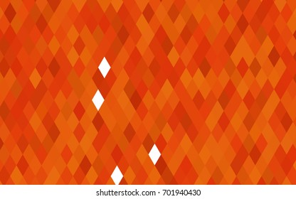 Light Orange vector shining triangular pattern. A completely new color illustration in a vague style. The polygonal design can be used for your web site.
