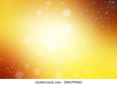 Light Orange vector texture in birthday style. Abstract gradient illustration with colorful Christmas things. Pattern for school, grammar websites.
