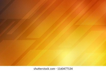 Light Orange vector texture with colored lines. Shining colored illustration with sharp stripes. Template for your beautiful backgrounds.