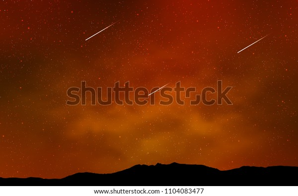 Light Orange vector texture with milky way stars. Shining colored illustration with bright astronomical stars. Pattern for futuristic ad, booklets.