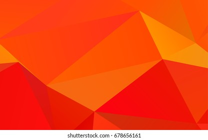 Light Orange vector triangle mosaic pattern. Creative geometric illustration in Origami style with gradient. The best triangular design for your business.