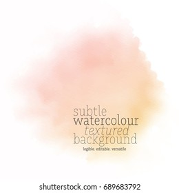 light orange water color spot