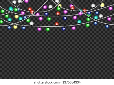 Light party background tranparant, illuminated greeting decoration