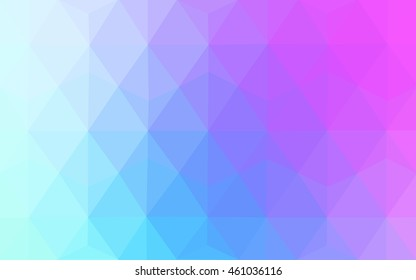 Light pink, blue abstract mosaic template. Modern geometrical abstract illustration with gradient. A completely new template for your business design.