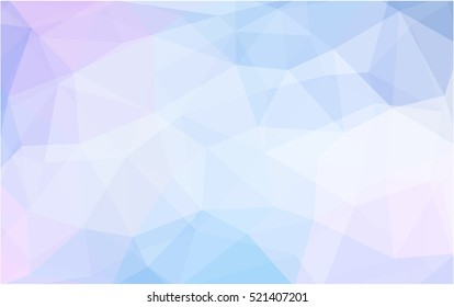 Light pink, blue abstract mosaic background. Modern geometrical abstract illustration with gradient. A new texture for your design.