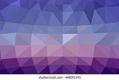 Light pink, blue polygonal illustration, which consist of triangles. Triangular design for your business. Geometric background in Origami style with gradient.
