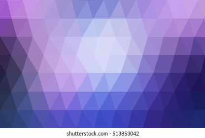 Light pink, blue triangle mosaic background. A vague abstract illustration with gradient. The completely new template can be used for your brand book.