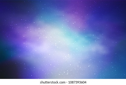 Light Pink, Blue vector background with galaxy stars. Modern abstract illustration with Big Dipper stars. Smart design for your business advert.