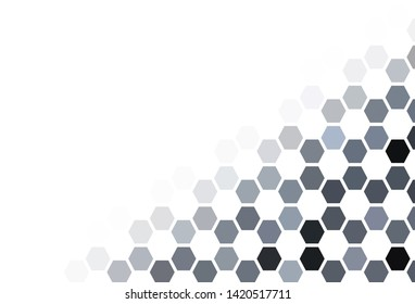 Light Pink, Blue vector background with set of hexagons. Design in abstract style with hexagons. Design for your business advert.