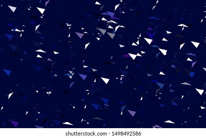 Light Pink, Blue vector background with triangles. Beautiful illustration with triangles in nature style. Smart design for your adverts.