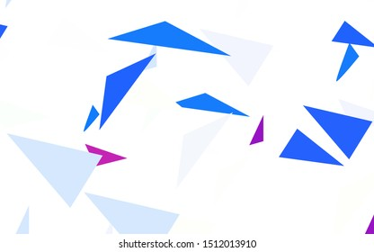Light Pink, Blue vector background with polygonal style. Abstract gradient illustration with triangles. Smart design for your adverts.