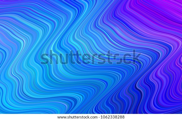Light Pink, Blue vector background with lamp shapes. Blurred geometric sample with gradient bubbles.  A completely new template for your business design.