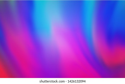 Light Pink, Blue vector blurred shine abstract template. Shining colored illustration in smart style. Background for a cell phone.