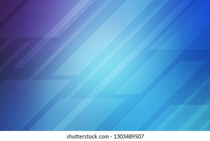 Light Pink, Blue vector cover with stright stripes. Shining colored illustration with sharp stripes. Best design for your ad, poster, banner.