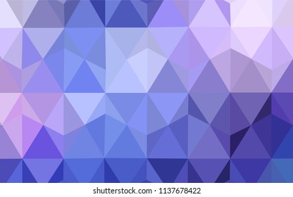 Light Pink, Blue vector gradient triangles texture. Geometric illustration in Origami style with gradient.  Pattern for a brand book's backdrop.