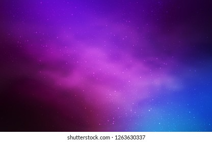 Light Pink, Blue vector layout with cosmic stars. Modern abstract illustration with Big Dipper stars. Best design for your ad, poster, banner.