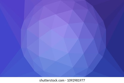 Light Pink, Blue vector low poly texture with a diamond. A sample with polygonal shapes. Textured pattern for your backgrounds.