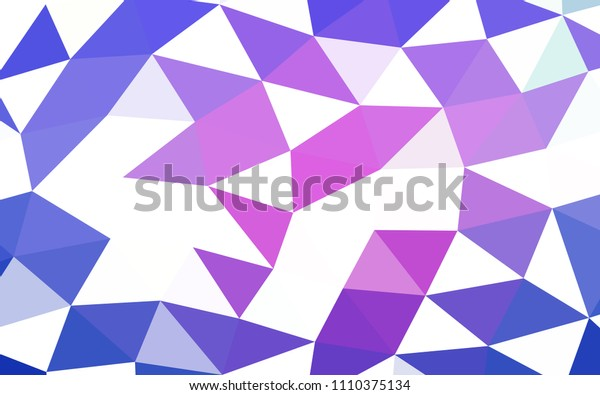 Light Pink, Blue vector low poly low poly. An elegant bright illustration with gradient. The best triangular design for your business.