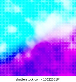 Light Pink, Blue vector pattern with circles. Abstract illustration with colorful spots in nature style. Pattern for booklets, leaflets.