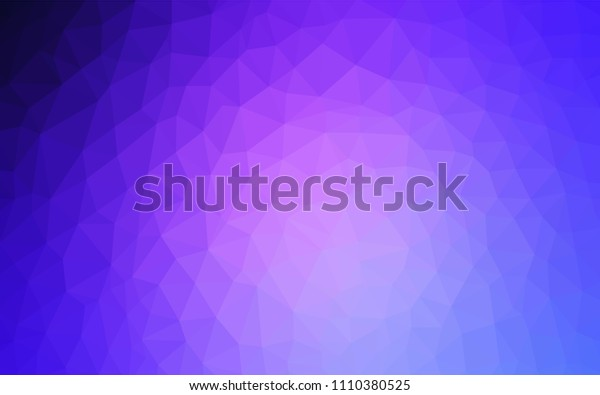Light Pink, Blue vector polygon abstract background. Geometric illustration in Origami style with gradient.  A new texture for your web site.