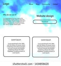 Light Pink, Blue vector style guide with sky stars. Colorful Style guide with stars on abstract background. This template you can use for websites.