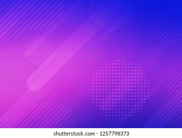 Light Pink, Blue vector template with repeated sticks, circles. Glitter abstract illustration with colored sticks, dots. The template can be used as a background.