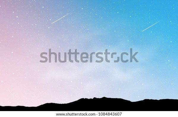 Light Pink, Blue vector template with space stars. Shining colored illustration with bright astronomical stars. Pattern for astrology websites.
