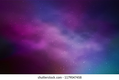 Light Pink, Blue vector texture with milky way stars. Modern abstract illustration with Big Dipper stars. Pattern for astrology websites.