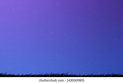Light Pink, Blue vector texture with milky way stars. Glitter abstract illustration with colorful cosmic stars. Best design for your ad, poster, banner.