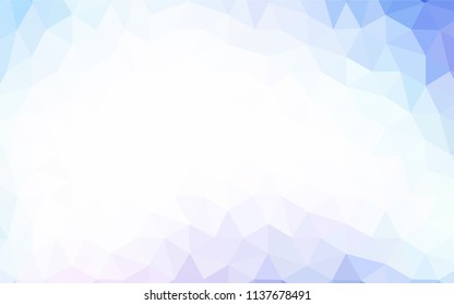 Light Pink, Blue vector triangle mosaic template. A completely new color illustration in a polygonal style. A new texture for your web site.