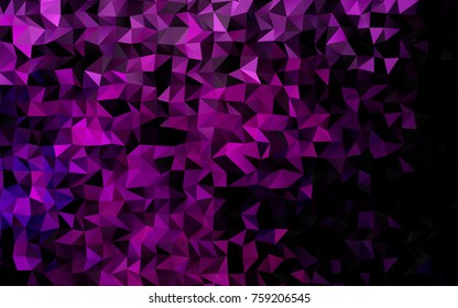 Light Pink, Blue vector triangle mosaic pattern. Geometric illustration in Origami style with gradient.  The best triangular design for your business.