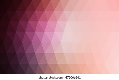 Light pink blurry triangle background. A completely new color illustration in a vague style. A new texture for your design.