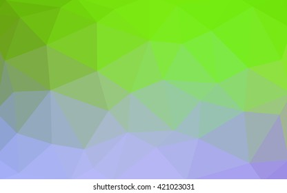 Light pink, green polygonal illustration, which consist of triangles. Triangular design for your business. Geometric background in Origami style with gradient.