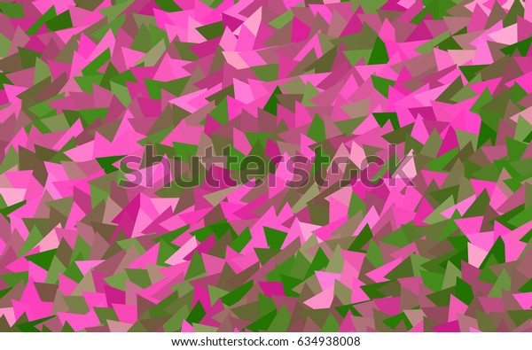 Light Pink, Green vector abstract colorful background, which consist of triangles. Pattern with colored triangles on white background.