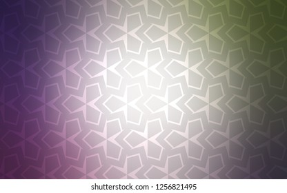 Light Pink, Green vector template with rhombus. Glitter abstract illustration with rectangular shapes. The template can be used as a background.