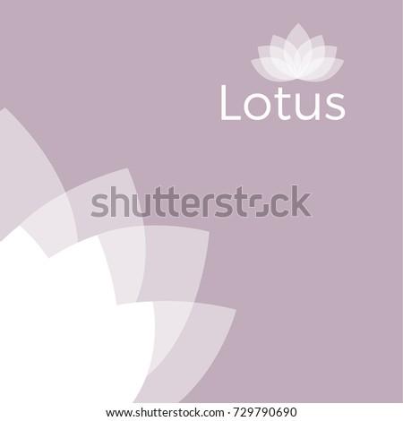 Light Pink Lotus Flower Background Yoga Stock Vector Royalty Free