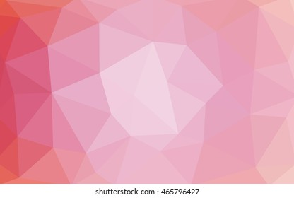 Light pink polygonal illustration, which consist of triangles. Triangular design for your business. Geometric background in Origami style with gradient.