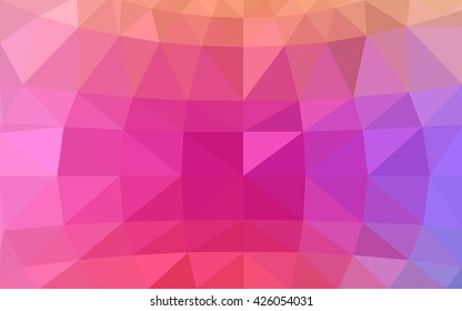 Light pink, red polygonal illustration, which consist of triangles. Triangular design for your business. Geometric background in Origami style with gradient.
