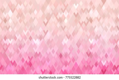 Light Pink vector background of rectangles and squares. Style quilt and blanket. Geometrical rectangular pattern. Repeating pattern with rectangle shapes.