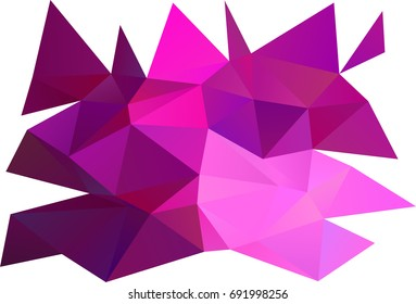 Light Pink vector blurry triangle background. Shining colored illustration in a brand-new style. A new texture for your design.