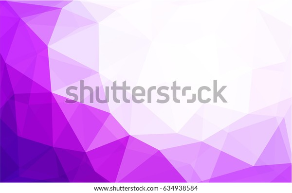 Light Pink vector blurry triangle background design. Geometric background in Origami style with gradient.