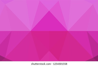 Light Pink vector low poly texture. Brand new colored illustration in blurry style with gradient. Brand new style for your business design.